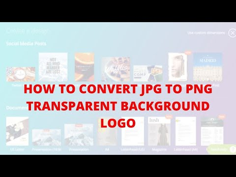 How to convert jpg to png transparent background logo