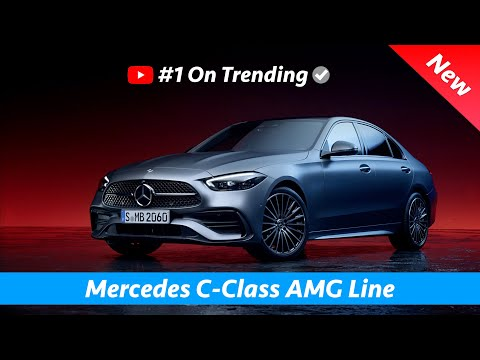 Mercedes C-Class AMG Line 2022 - FIRST Exclusive Look | Exterior - Interior, (Mini S-Class)