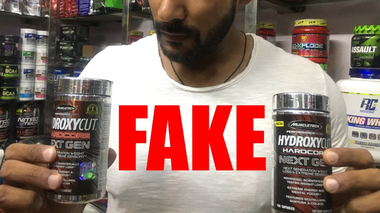 Shocking Unboxing Fake Muscletech Burner Hydroxycut Hardcore Elite 100 Caps Original
