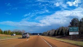 Road Trip #245 - I-22 East - Exit 41, Potts Camp to Exit 73, Blue Springs, Mississippi