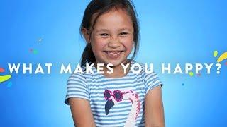 100 Kids Tell Us What Makes Them Happy | 100 Kids | HiHo Kids