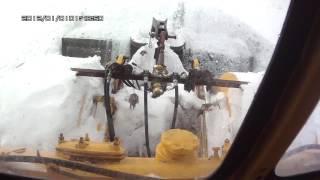 Трактор КИРОВЕЦ.  Мини эксперементик с отвалом (для тех кто не в курсе)