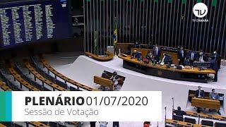 Plenário - Sessão para votação de propostas legislativas - 01/07/2020 14:30