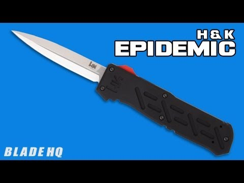"H&K Epidemic OTF Automatic Knife (3.44"" Black) 14850BK"