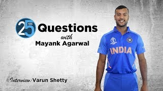 25 Questions with Mayank Agarwal | Who has the best beach bod in the Indian team?