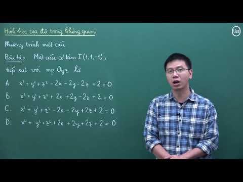 Phương trình mặt cầu ( Nguồn: ST)