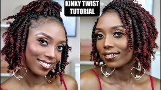 How To Kinky Twists Crochet Braids Tutorial On Short Natural Hair