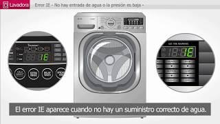 LG Lavadora: error IE