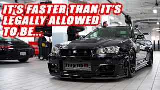 FINALLY! HERE'S EVERY MOD DONE TO OUR NISSAN SKYLINE R34-GTR V-SPEC! *WAY FASTER THAN WE THOUGHT*