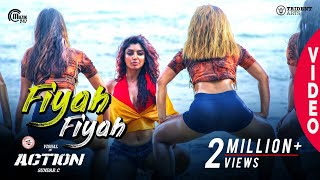 Action | Fiyah Fiyah Video Song | Vishal Akanksha Puri | Hiphop Tamizha | Navz-47 | Sundar.C
