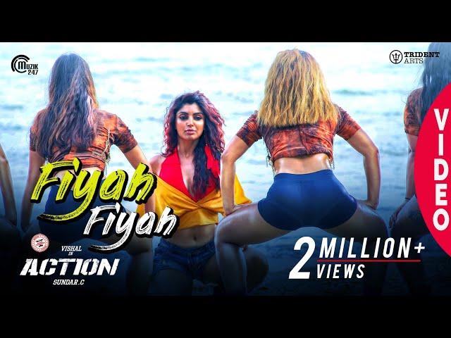 Action | Fiyah Fiyah Video Song | Vishal, Akanksha Puri | Hiphop Tamizha | Navz-47 | Sundar.C