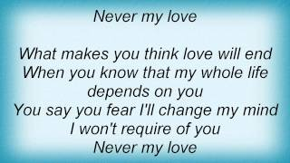 Barry Manilow - Never My Love Lyrics_1