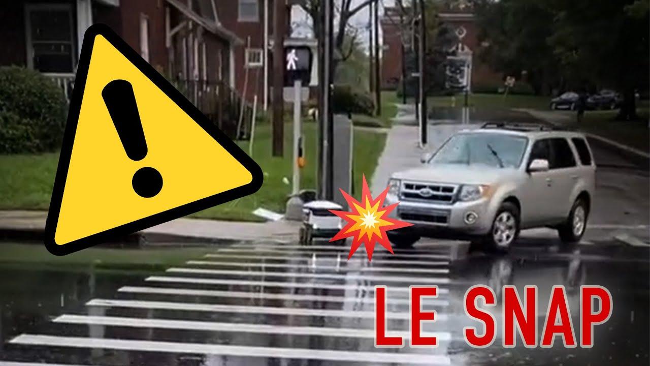 Le Snap #46 : Un robot manque de se faire écraser par une voiture