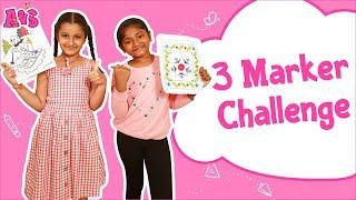 Aadya vs Sitara | 3 Marker Challenge | Aadya & Sitara | A & S Channel