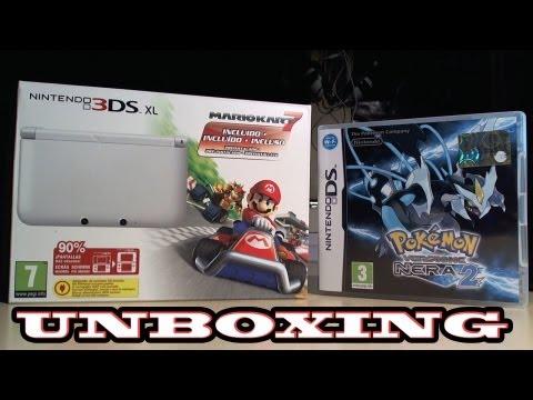 UNBOXING NINTENDO 3DS XL BUNDLE MARIO KART 7 + POKEMON VERSIONE NERA 2 (HD ITA)