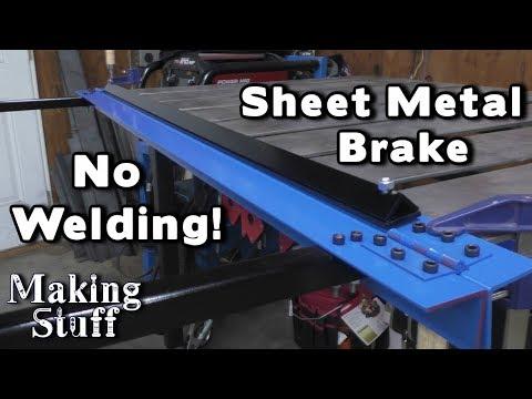 ✔️ DIY No Weld Sheet Metal Brake