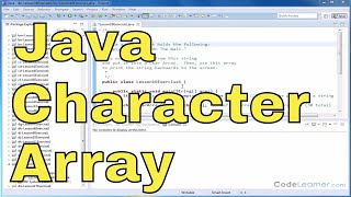 Learn Java - Exercise 16x - Reading Chars into Character Array