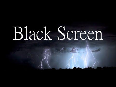 Gewittergeräusche mit Regen, 60 Minuten, Black Screen