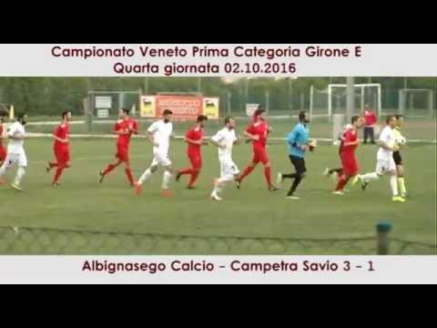 immagine di anteprima del video: ALBIGNASEGO - CAMPETRA SAVIO 3-1 (02.10.2016)