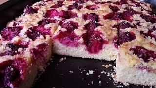 Ciasto drożdżowe pyszne z owocami i kruszonką