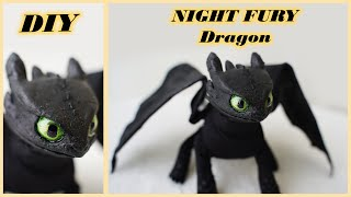 DIY Flexible NIGHT FURY Toothless | How To Train Your Dragon