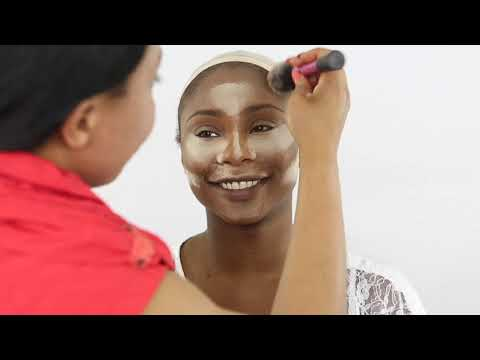 BRIDAL  MAKEUP AND HAIR |NIGERIAN WEDDING|DARK SKIN BRIDE   EP2