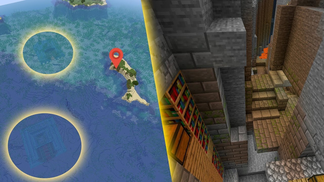 1.15 Double ocean temple at spawn and exposed stronghold MINECRAFT SEED 176460618470483072