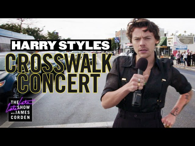 Harry Styles Performs a Crosswalk Concert