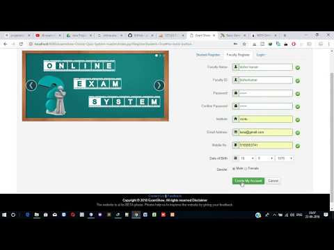 Online Examination System Quiz project in java using jsp, Servlet
