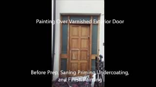 Painting over a varnished Door
