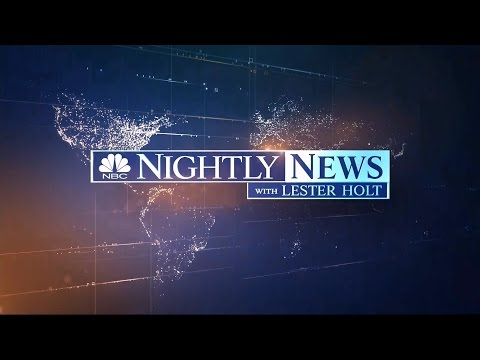 Lester Holt Officially Takes Over NBC Nightly News - HD - 6/22/2015