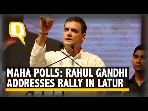 Rahul Gandhii Addresses a Rally in Latur, Maharashtra