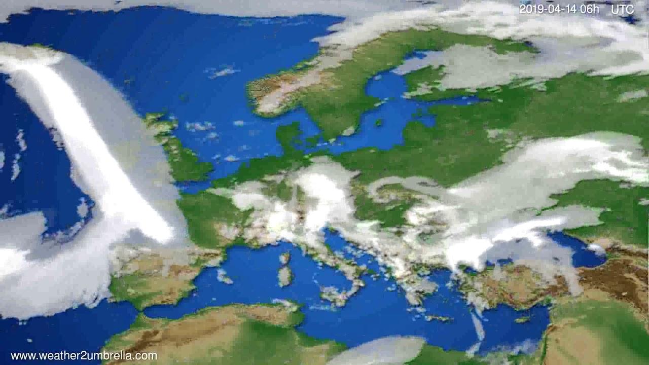 Cloud forecast Europe // modelrun: 12h UTC 2019-04-11