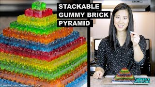 How To Make GUMMY LEGO Jello Candy - DIY Stackable Jello Gummy Lego Blocks (Make Jello Lego Gummies) - Video Youtube