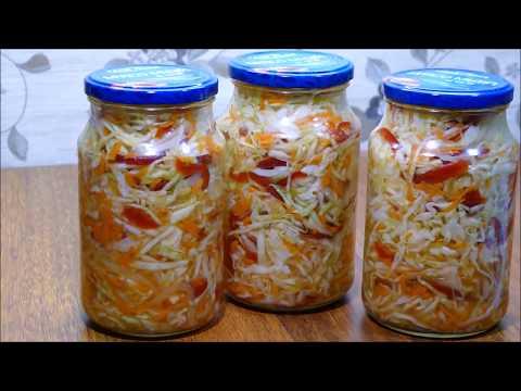 Салат из Капусты с Перцем🌶Быстрого Приготовления