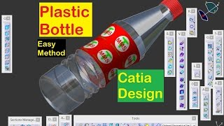 Catia v5 | Tutorial for Beginners | Plastic Bottle Design | Training COURSE | United States