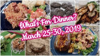 What's For Dinner?  March 25-30, 2019 | Cooking for Two | Easy Meal Ideas