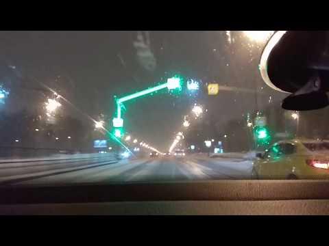 Путешествие по утренней Москве на автомобиле!!!