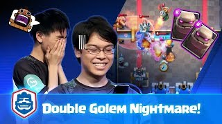 HOW TO DEFEND AGAINST DOUBLE GOLEM IN 2v2?! | Lewis + Koo vs YUIIHIRO + Amaterasu | CRL Asia