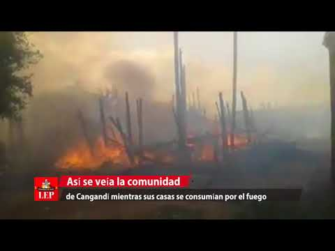 Autoridades envían asistencia humanitaria a comunidad Cangandi por incendio