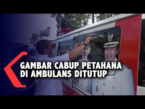 dinilai menyalahi pkpu gambar cabup petahana di ambulans desa ditutup bawaslu