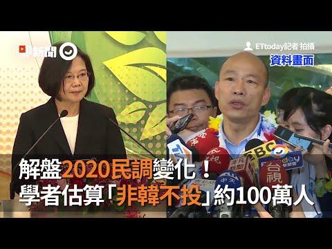 解盤2020民調變化!學者估算「非韓不投」約100萬人