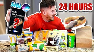 I Only Ate Foods SIRI Picked For 24 Hours!! *SIRI CONTROLS MY LIFE*