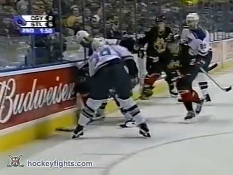 Barret Jackman vs. Scott Nichol