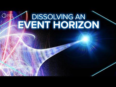 Dissolving an Event Horizon