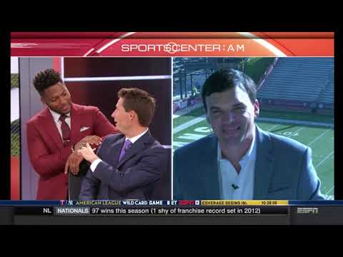 Troy HC Neal Brown Live on SportsCenter (Oct. 3, 2017)