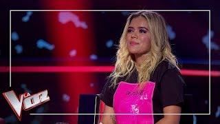 Karol G Se Emociona Con La Actuación De Fran Arenas   Momentazo   La Voz Antena 3 2019
