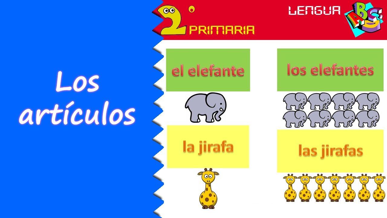 Lengua, 2º Primaria. Tema 9. El artículo