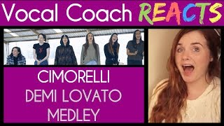 Vocal Coach Reacts to Cimorelli Demi Lovato Medley - Sober, Stone Cold, Skyscraper, + MORE