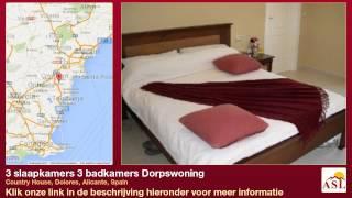 preview picture of video '3 slaapkamers 3 badkamers Dorpswoning te Koop in Country House, Dolores, Alicante, Spain'